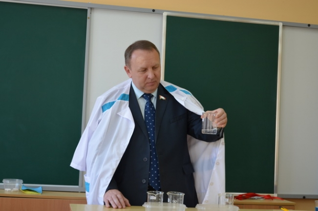 Посещение урока химии средней школы  в г.Лепель